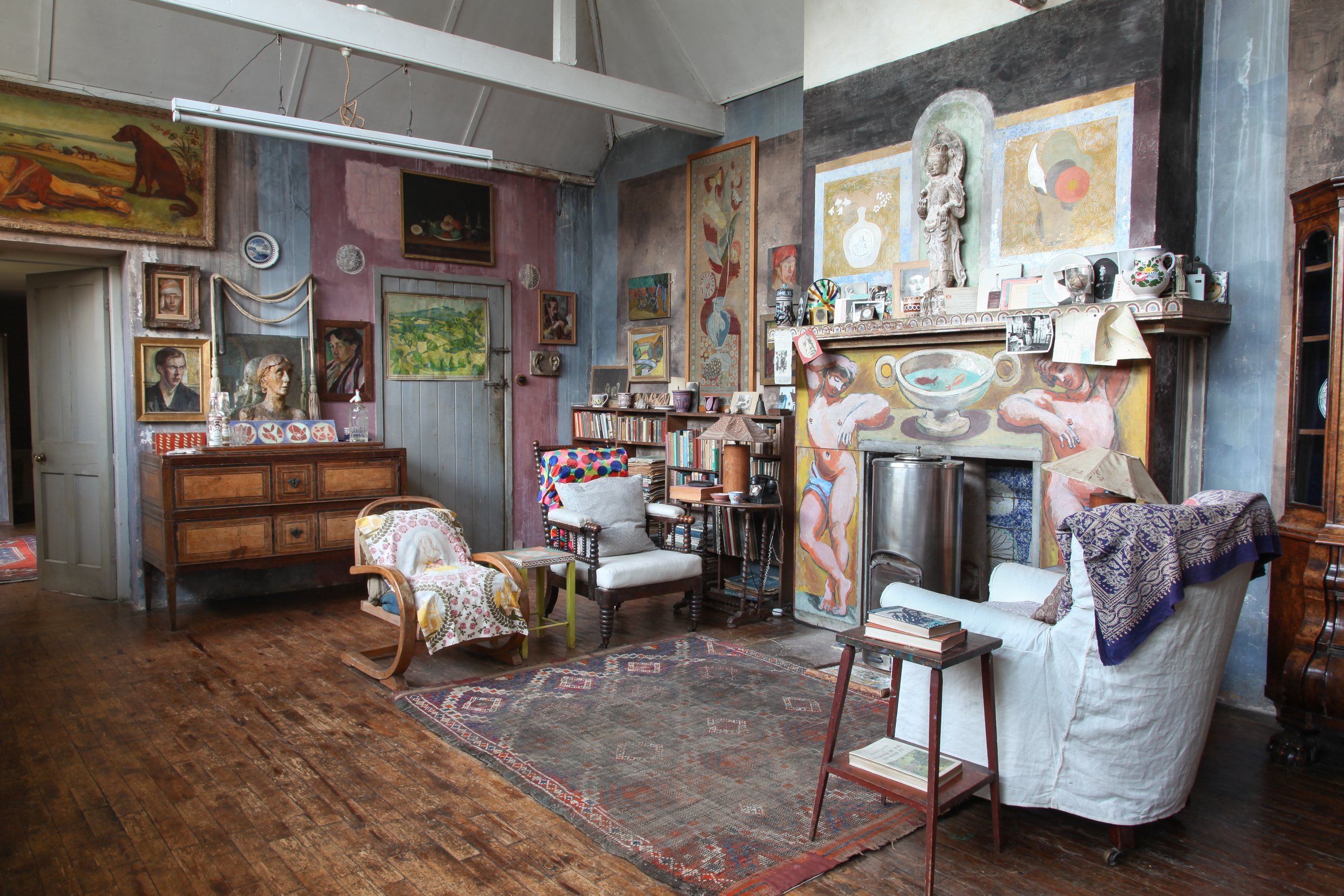 The studio at Charleston. Photograph © Penelope Fewster