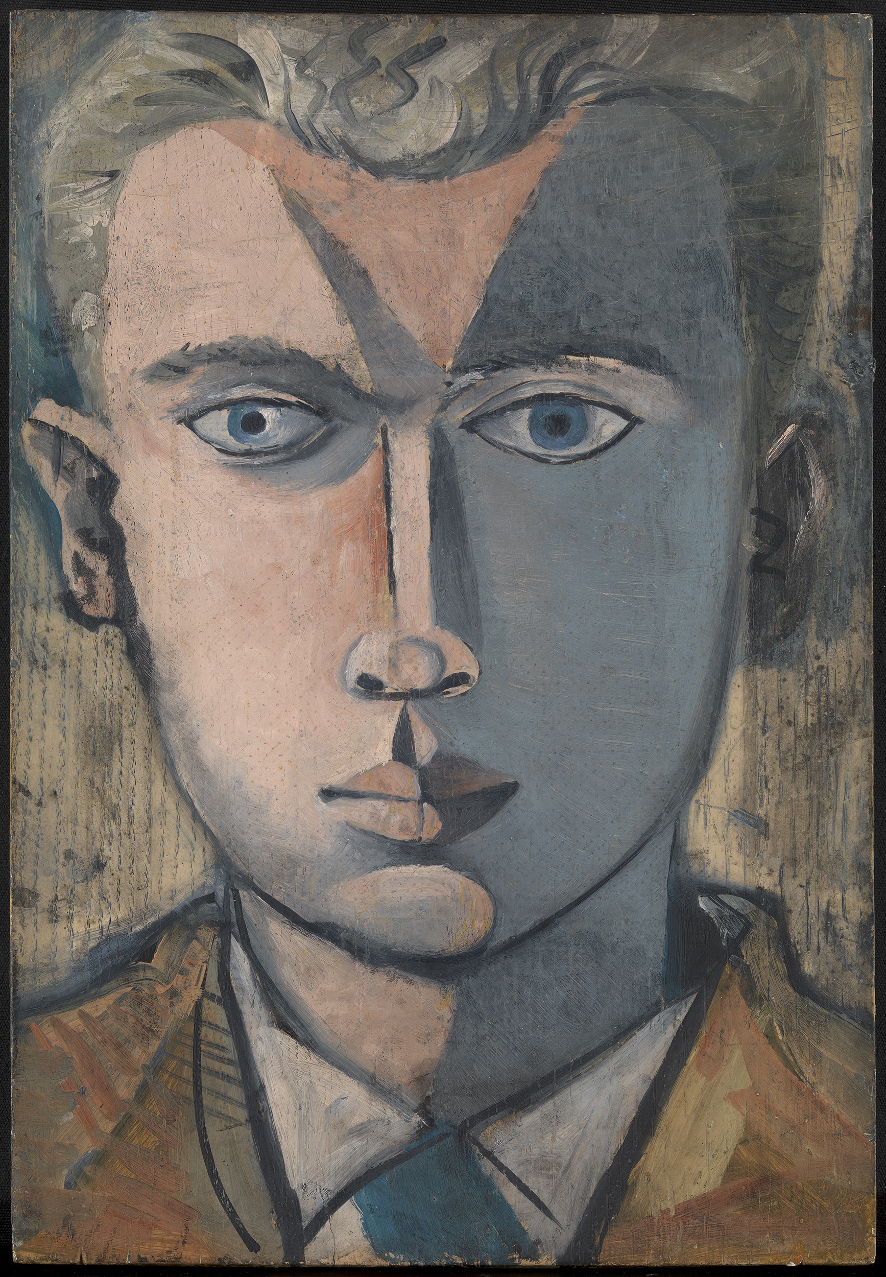 John Craxton, Head of Man, 1948-48, acrylic on board, 44 x 30 cm. Courtesy of Osborne Samuel.