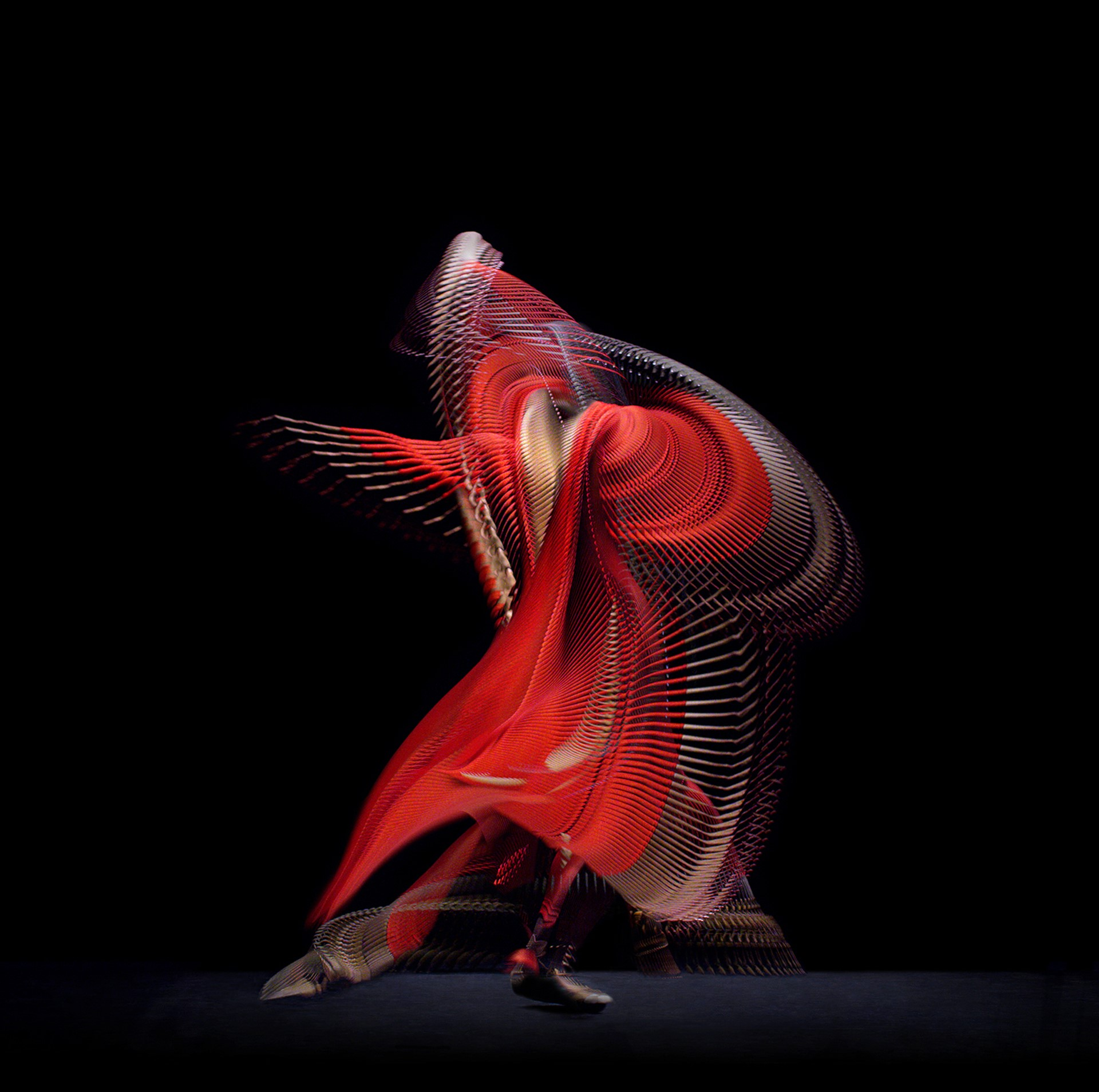 Abstract Dancer Red 3, Giles Revell