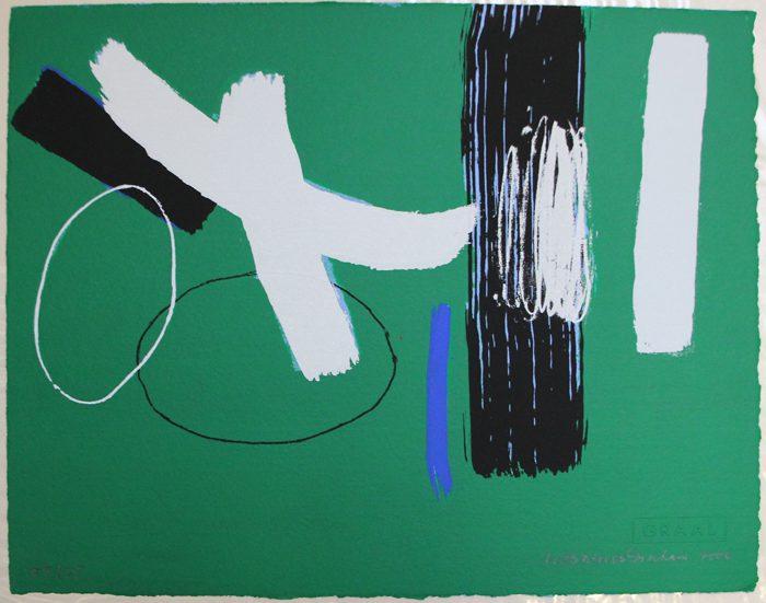 Wilhelmina Barns-Graham, Milennium Series Green, 2000, Courtesy of Zuleika Gallery