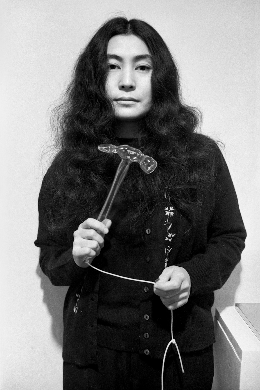 Clay Perry, Yoko Ono (with glass hammer), 1967/2021, Courtesy of England & Co