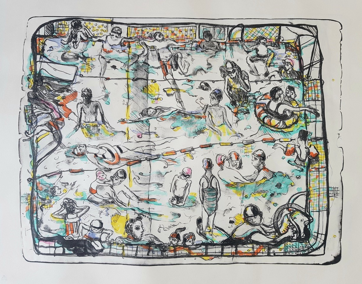Kate McCrickard, Swimmers, 2020, Courtesy of Art First