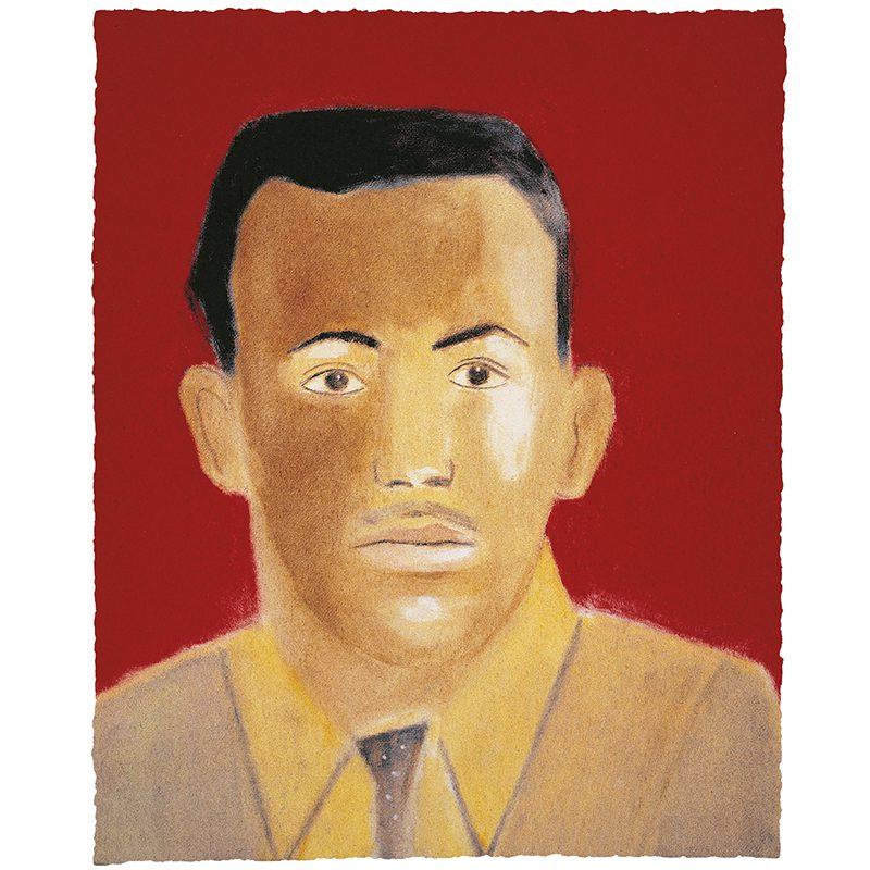 Craigie Aitchison, Portrait of Michael Mohammed, 2003. Print, 25.7 x 31.2cm. Edition 75. Courtesy of Advanced Graphics London.