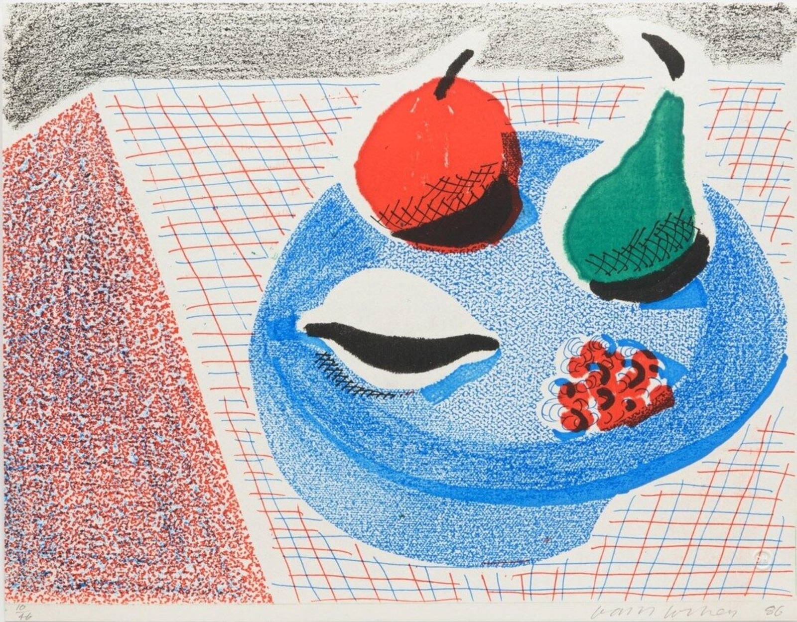 David Hockney, The Round Plate, April 1986, 1986. Courtesy of RAW Editions.