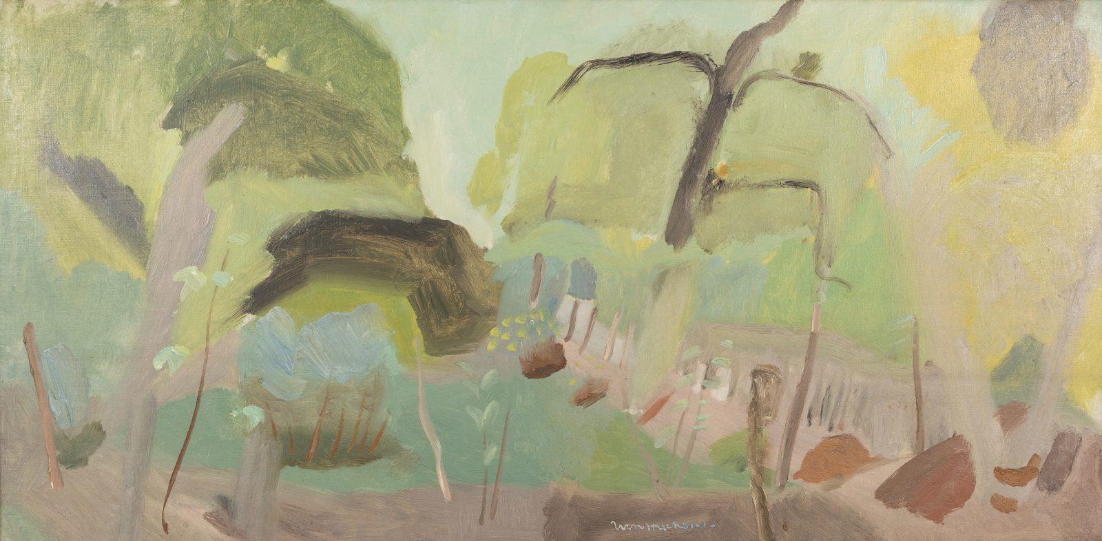 Ivon Hitchens, Woodland Interior, Shropshire Landscape, c1930-2. Courtesy of Jenna Burlingham Fine Art.