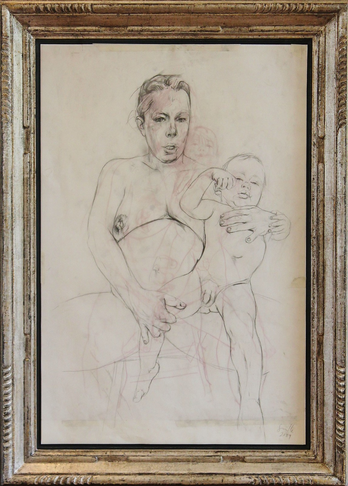 Jenny Saville (RA), Mother and Child study ii, 2009. Courtesy of Castlegate House Gallery.
