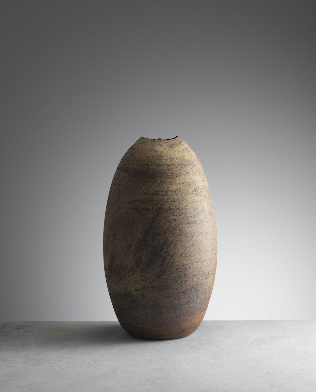 Joanna Constantinidis, Large Ovoid Vessel, c1985. Ceramics, 40cm tall. Courtesy of Oxford Ceramics.