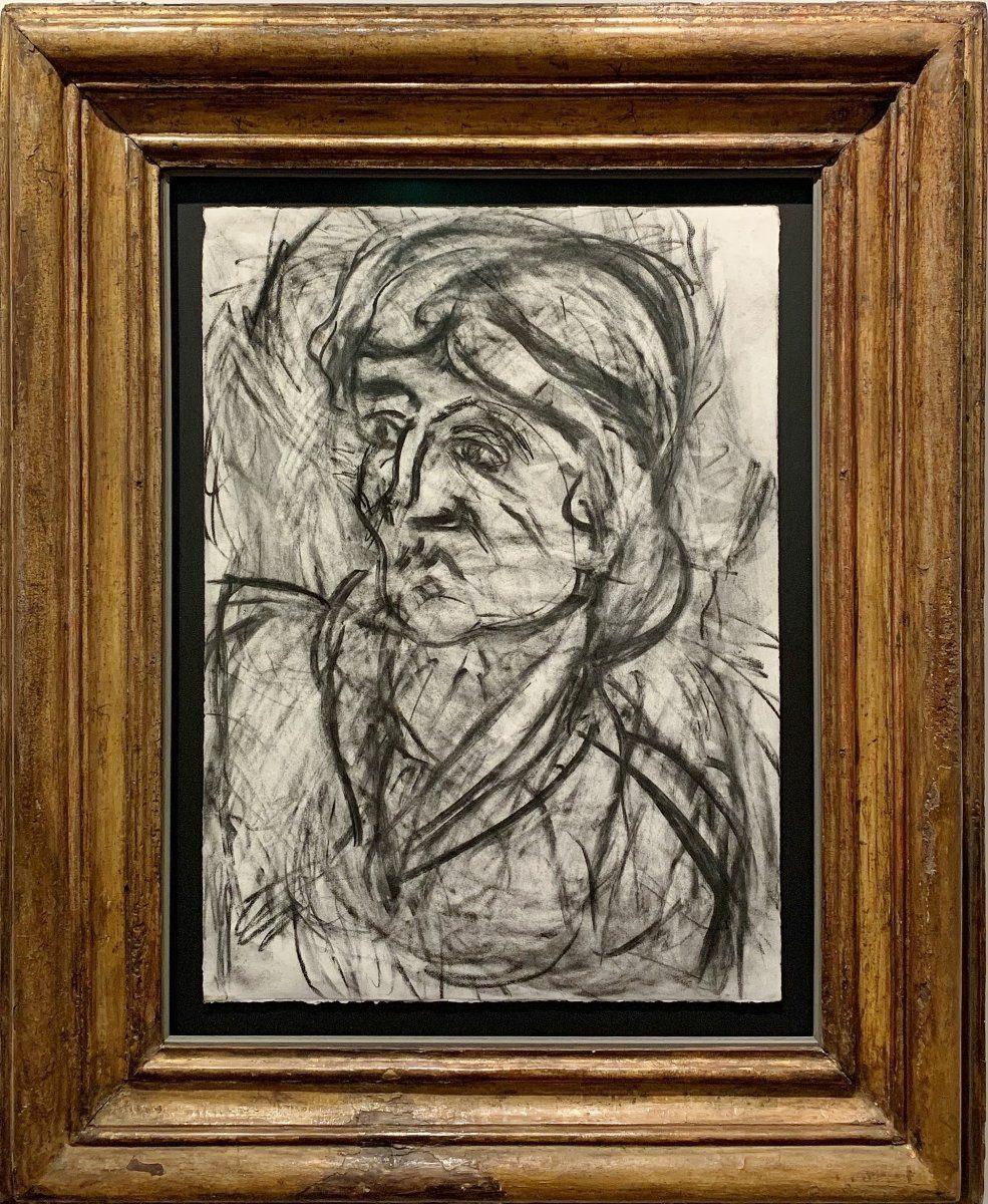 Leon Kossoff, Fidelma, 1999. Courtesy of Castlegate House Gallery.
