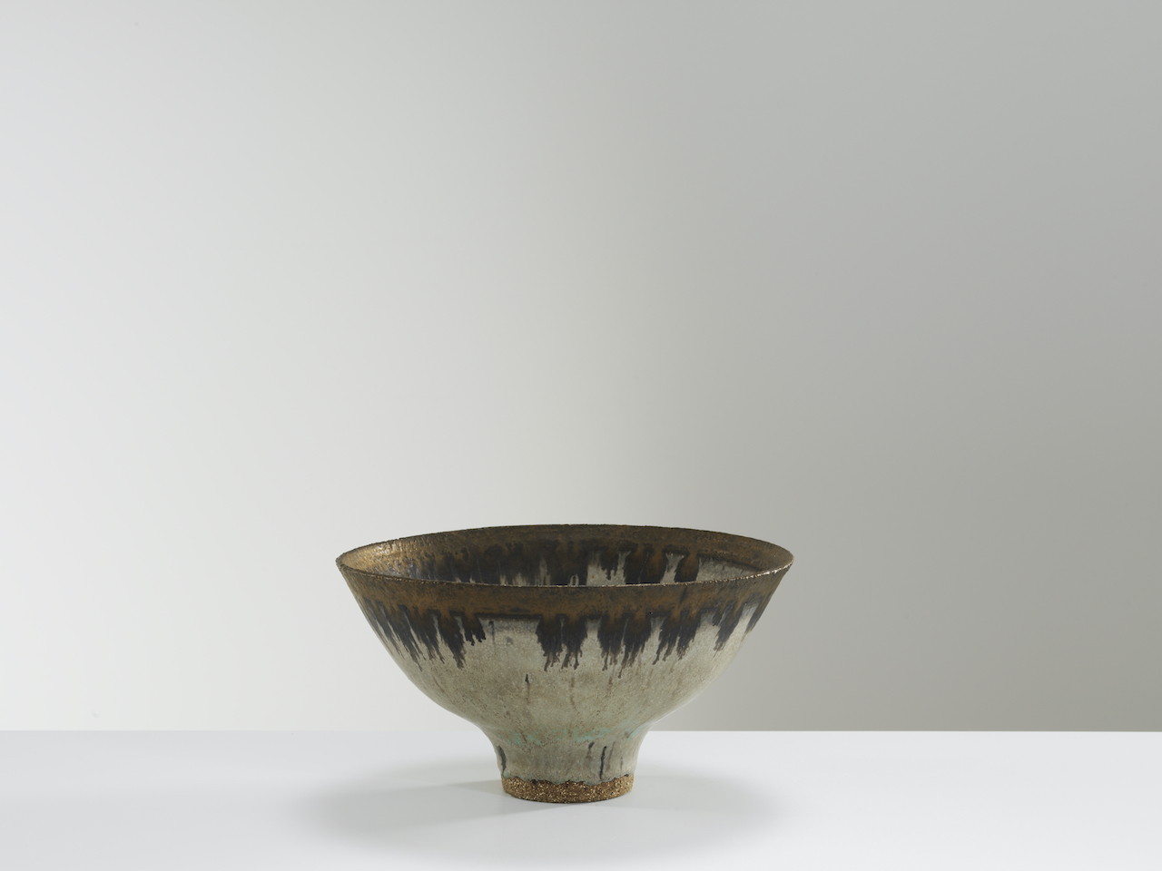 Lucie Rie, Bowl with bronze rim, c1970s. Ceramics, 11 x 20.5 cm. Courtesy of Oxford Ceramics.