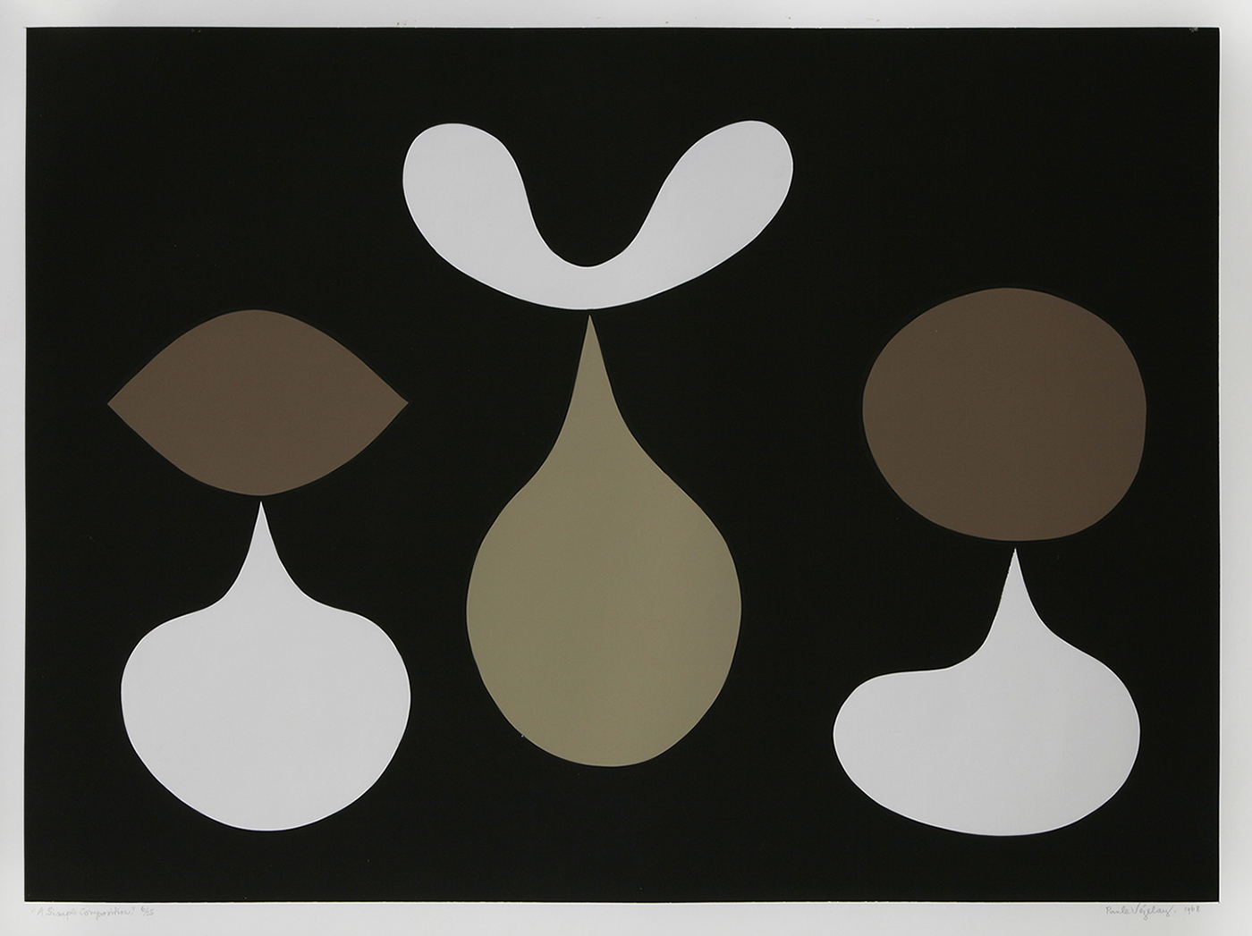Paule Vézelay, A Simple Composition, 1968. Courtesy of England & Co.