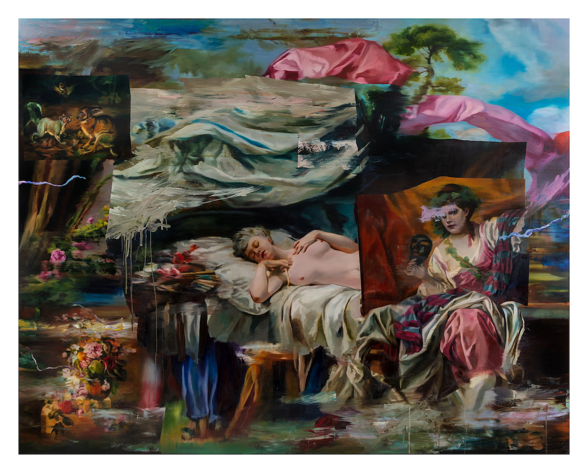 Simon Casson, Nights Mizmaze, 2021. Oil on canvas, 240 x 190cm. Courtesy of Long & Ryle.