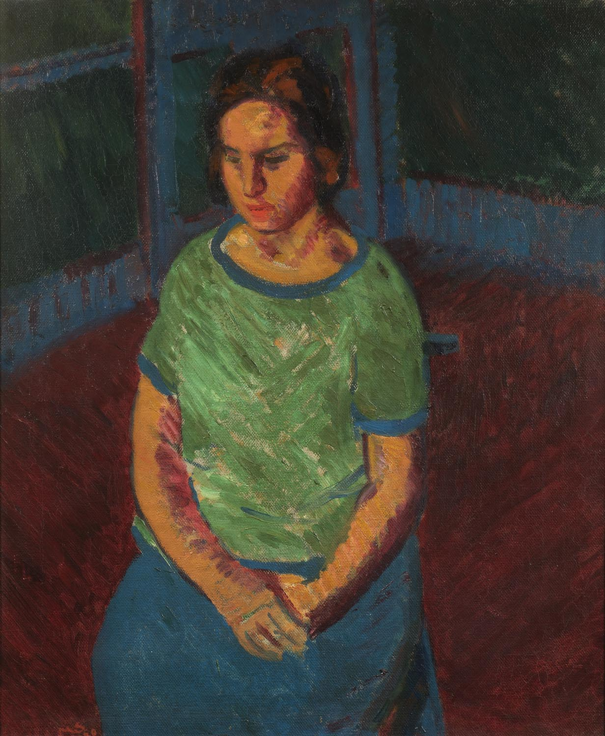 Sir Matthew Smith, Seated Model (Woman in Green), 1920. Courtesy of Crane Kalman Gallery.