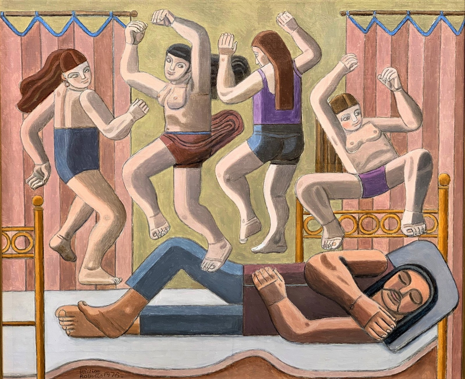 William Roberts, Dream of Dancing Women, 1978. Courtesy of Goodman Fine Art.