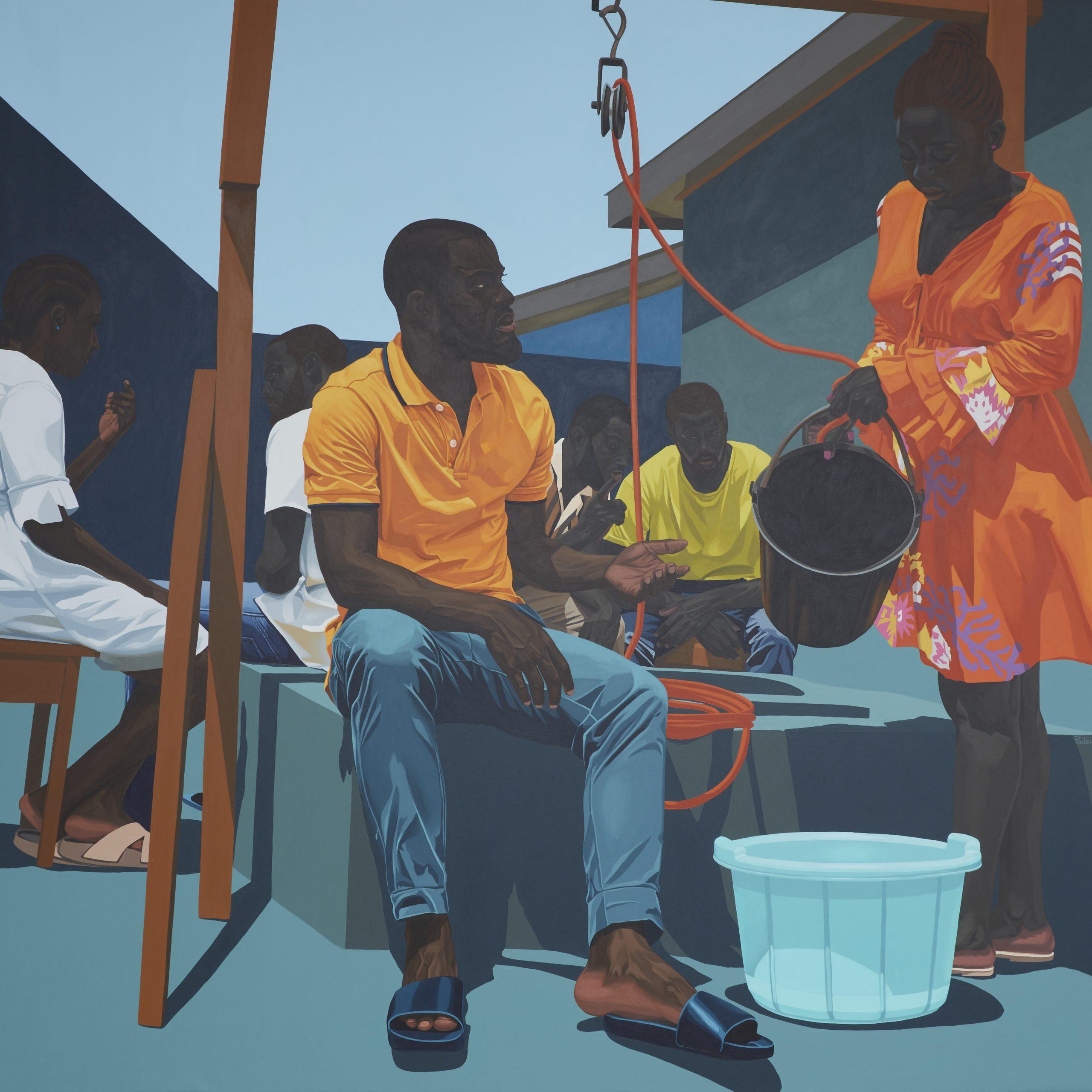 Marc Padeu, Donne-Moi De L'eau, 2021. Courtesy of Jack Bell Gallery