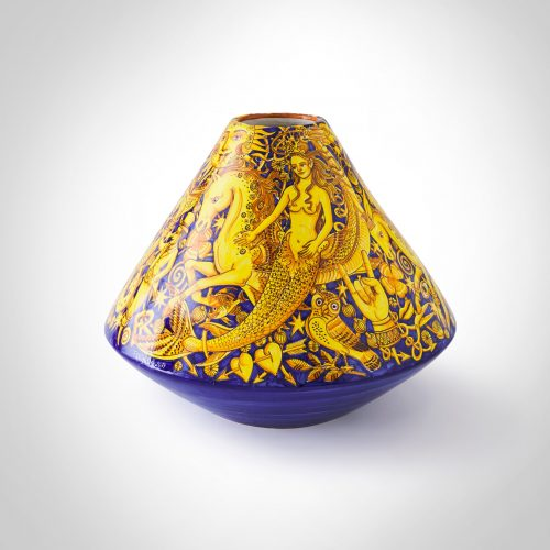 Francesco Raimondi, Vulcano vase, 2019, glazed earthenware, 32 x 36cm (Photo credit Francesco Raimondi) Courtesy of MADEINBRITALY