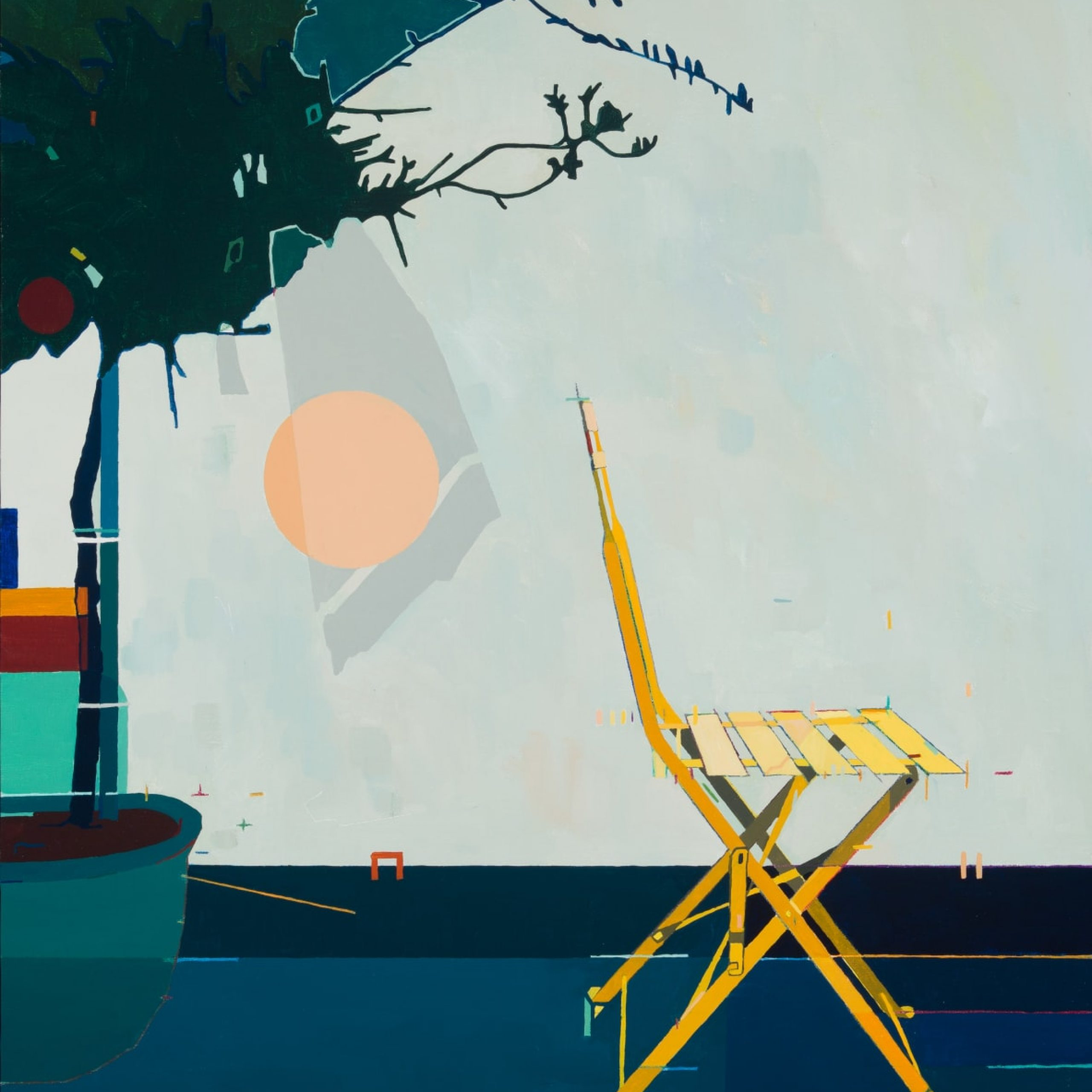 6. Fred Coppin, The Yellow Chair, 2020. Courtesy of Candida Stevens Gallery.