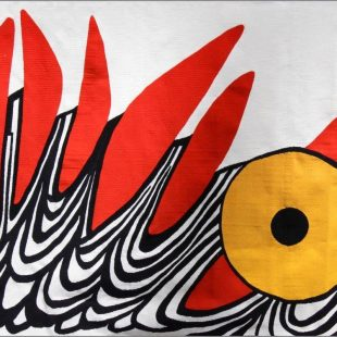 Alexander Calder, Six Dents Rouges, c.1970. Courtesy of Crane Kalman Gallery.