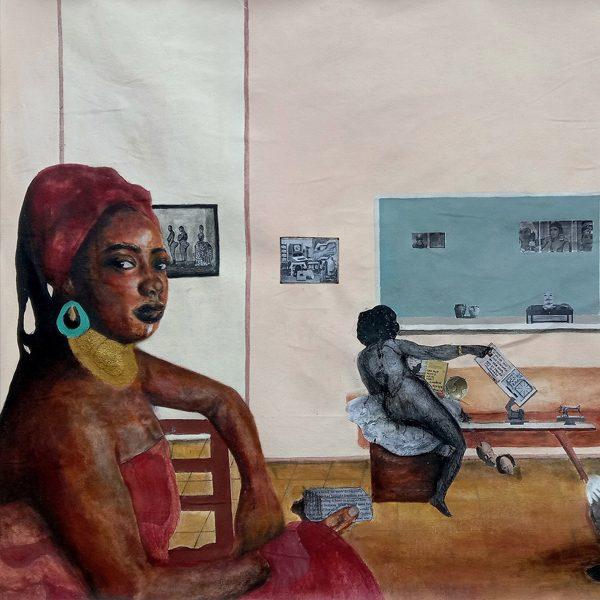 Cinthia Sifa Mulanga, Mawazo Katika Nafasi, [Detail], 2020. Courtesy of African Arty.