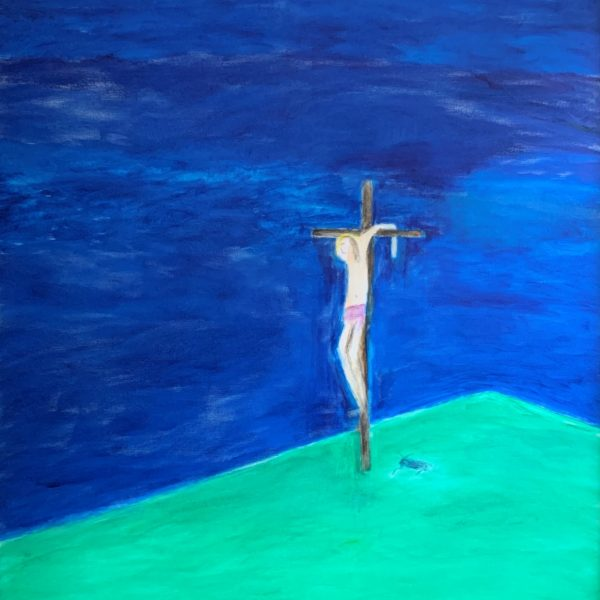 Craigie Aitchison, Crucifixion, 2009. Courtesy of Browse & Darby.