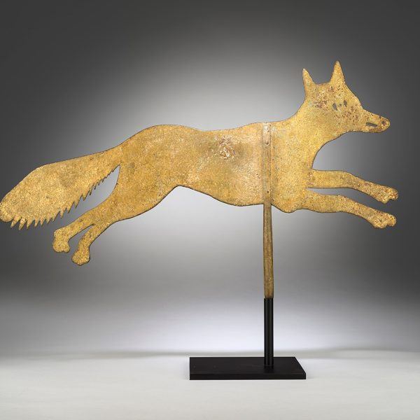 English Vernacular Metalworker, Silhouette Running Fox Weathervane, c.1870. Courtesy of Robert Young Antiques.