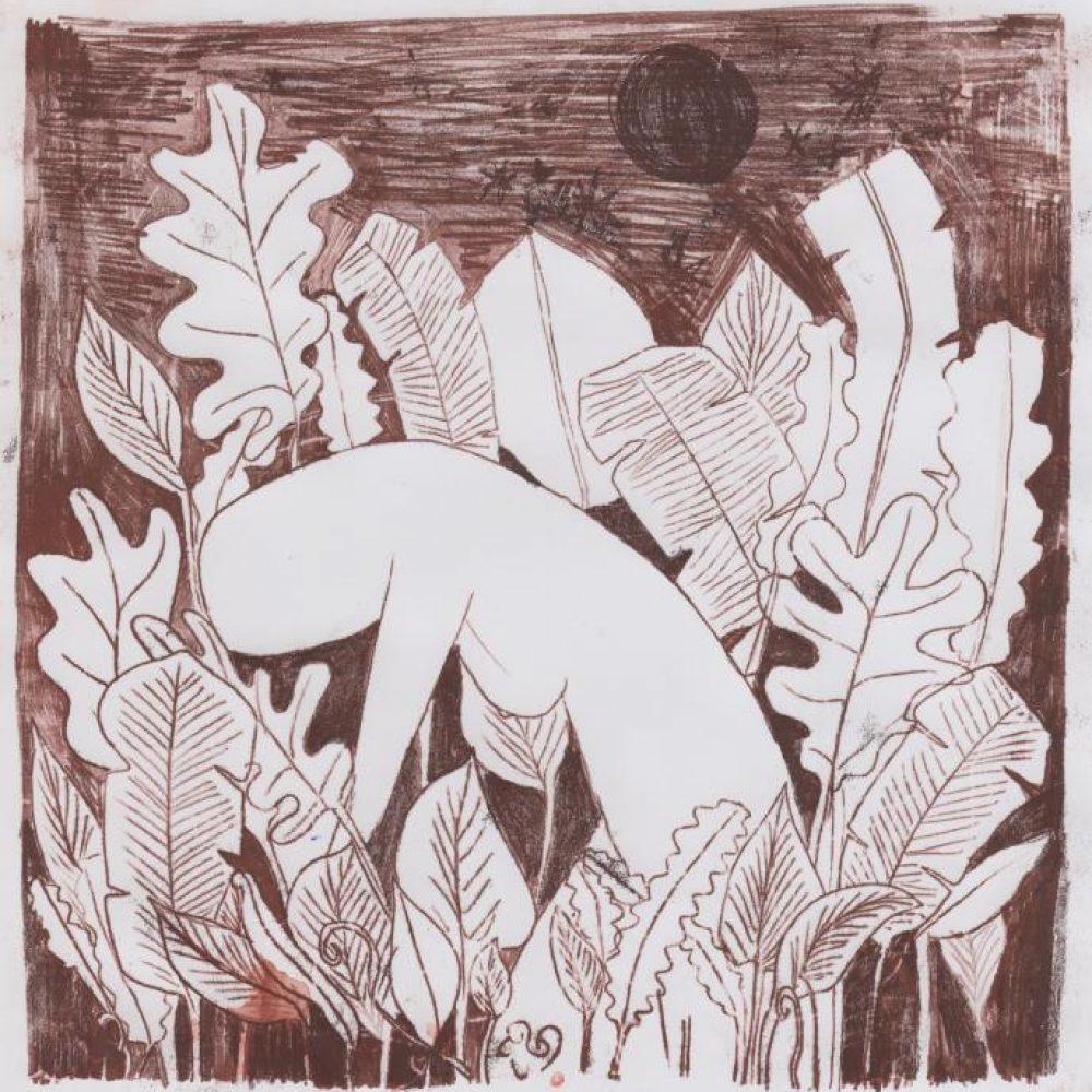 Kemi Onabule, Forage, 2017 Monoprint on paper 19.5 x 18.5 cm © The Artist