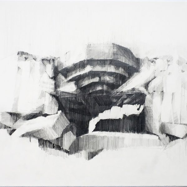 Ian-Chamberlain-North-Atlantic-Wall-–-Vantage-Point-2020.-Pencild-and-Graphite-31.5-x-40.5cm.-Courtesy-of-Rabley-Gallery.