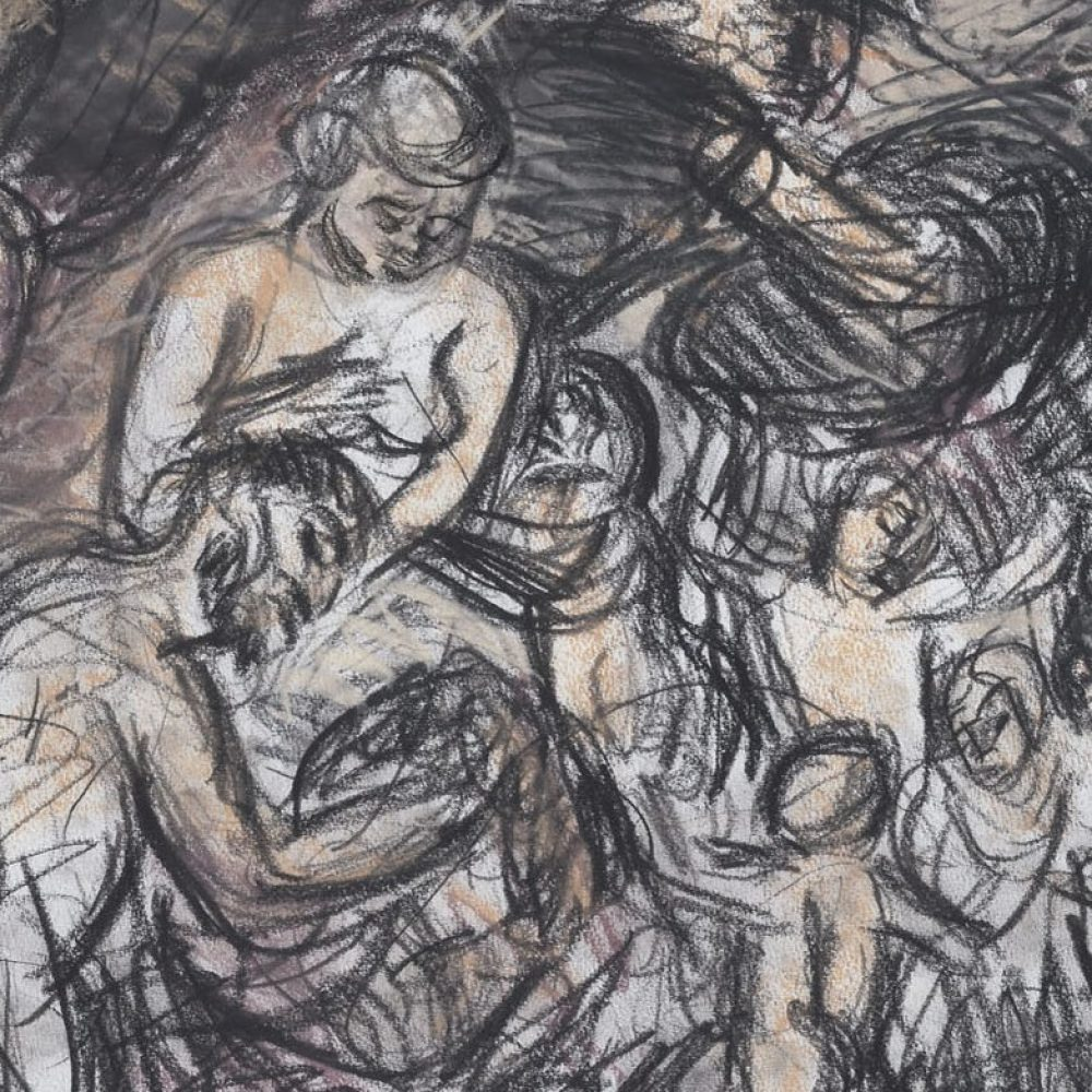 Leon Kossoff, From Rubens 'Minerva Protects Pax from Mars (Peace and War)- Detail, 1995-96. Courtesy of Piano Nobile.