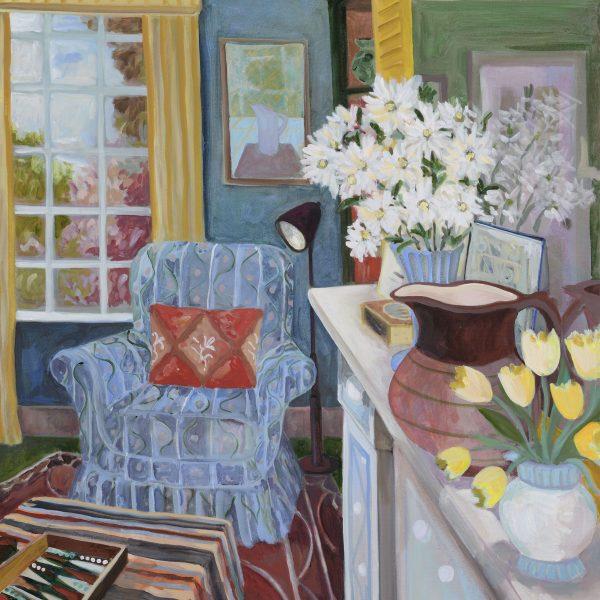 LottieCole,Chimney Piece III,2020,Oil on Canvas,90 x 75 cm