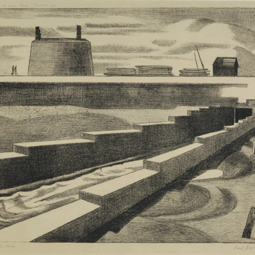 Paul Nash, The Sluice, 1920 .Courtesy of Osborne Samuel