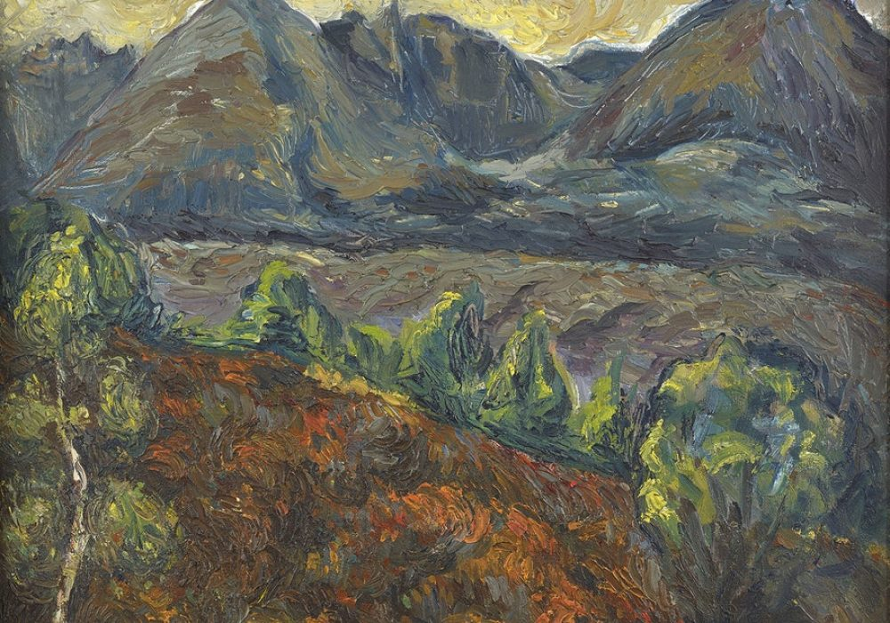 Aleksander Żyw, An Teallach I, 1946-7. oil on canvas. Courtesy of The Scottish Gallery