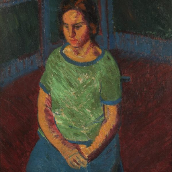 Sir-Matthew-Smith-Seated-Model-Woman-in-Green-1920.-Courtesy-of-Crane-Kalman-Gallery.