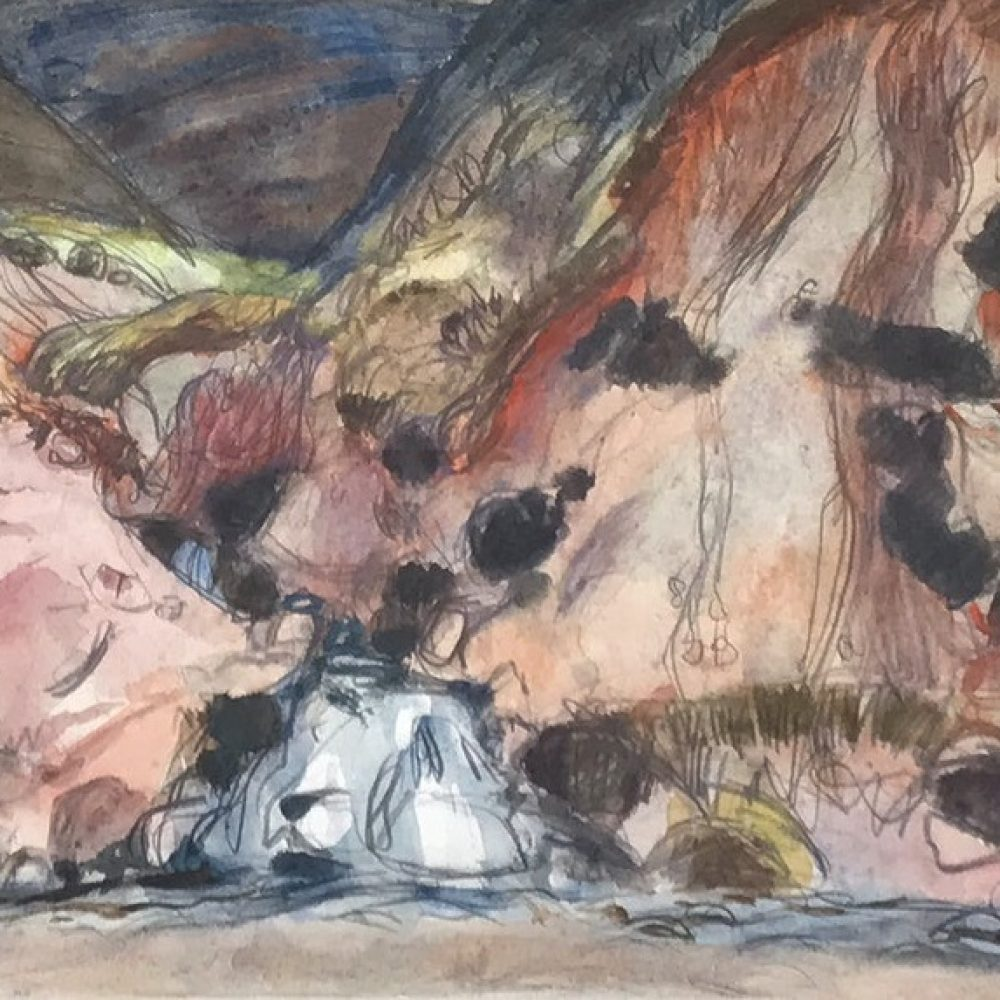 Sir William Gillies, Waterfall – Detail, 1968. Courtesy of The Scottish Gallery. 2