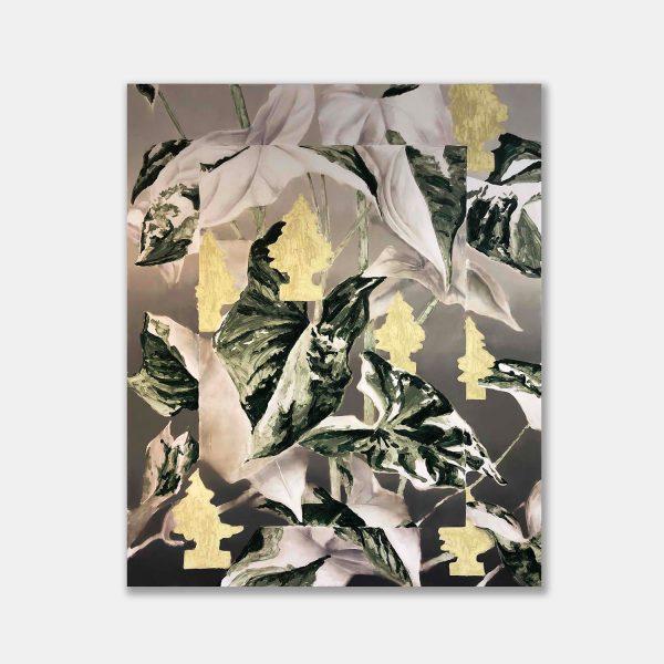 Tomas Harker, Lotus Tree, 2020. Oil on canvas. 150 x 180cm. Courtesy of BO.LEE.