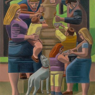 William Roberts RA, The drinking fountain, 1967. Courtesy of Richard Green.